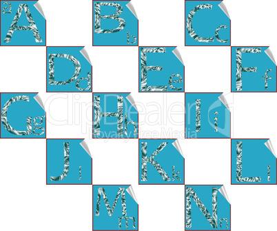 stickers alphabet A-O