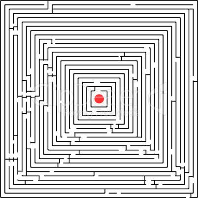 square maze against white background