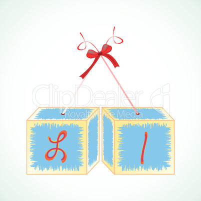 cubes alphabet L
