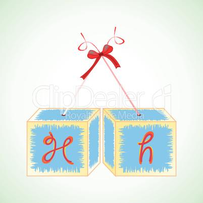 cubes alphabet H