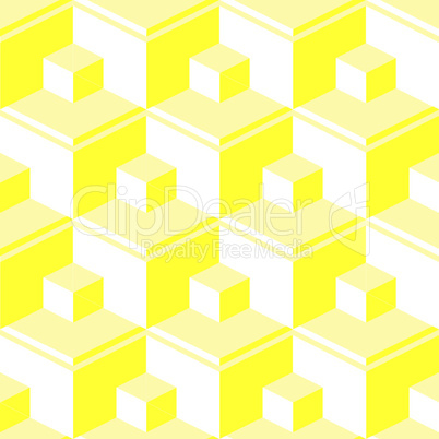 yellow abstract cubes