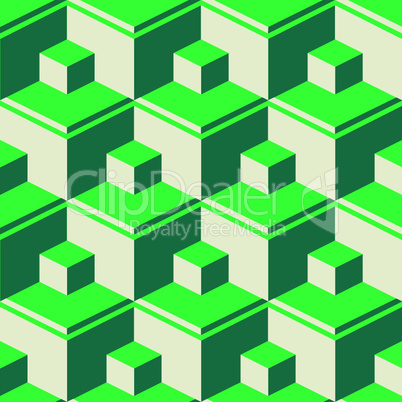 green abstract cubes