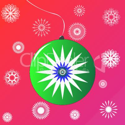 christmas globe green