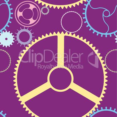 mechanic wheels seamless pattern