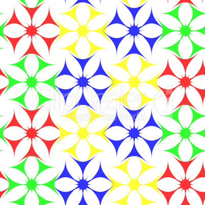 colored flowers seamless pattern