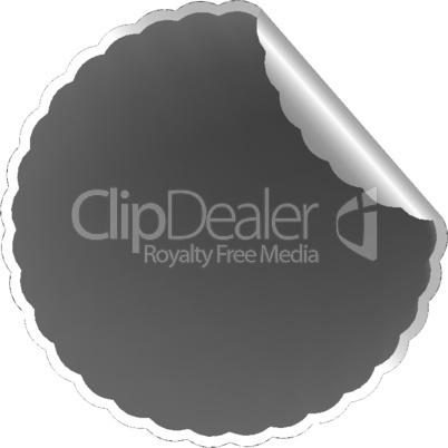 flowerish gray label
