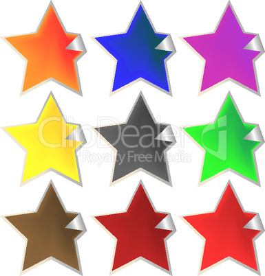 fresh star-shaped labels