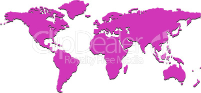purple world map
