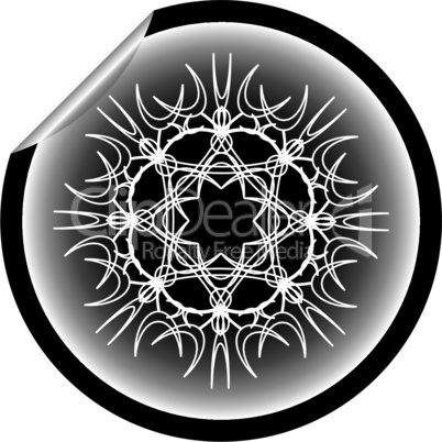 snow flake sticker isolated on white background 13