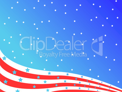 stylized american flag
