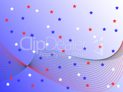 wave and stars
