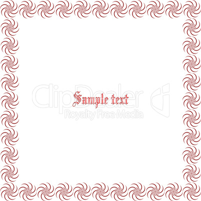 floral border with space for text