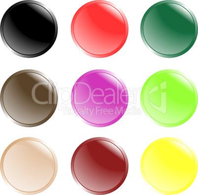 futuristic web buttons