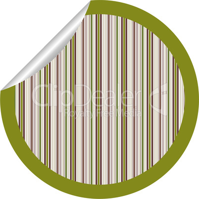 metalic stripes sticker isolated on white