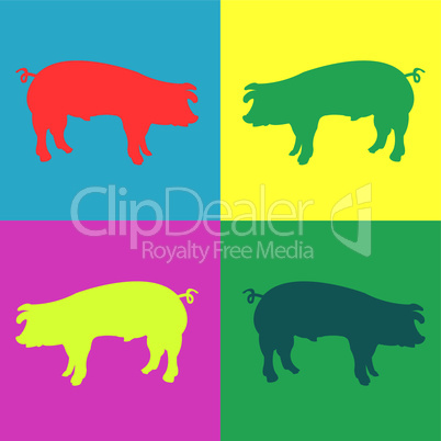retro pigs