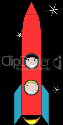 happy kids in space