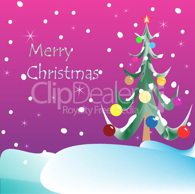 merry christmas card purple background