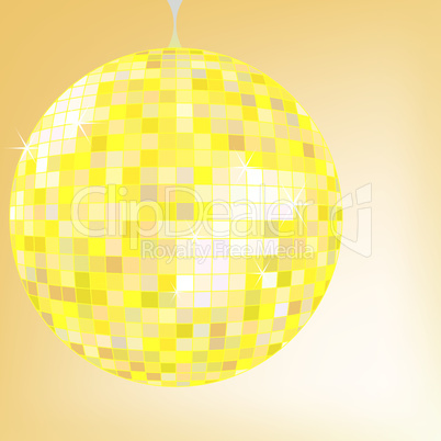 disco ball yellow