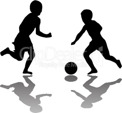 kids playing soccer black