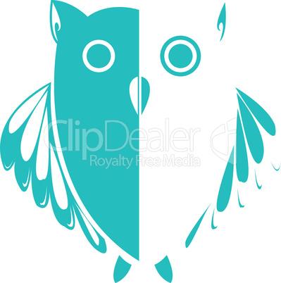 owl blue cartoon