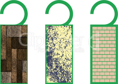 tags with textures