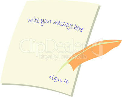 message card illustration