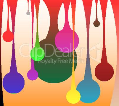 colored drops