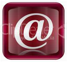 email symbol icon dark red, isolated on white background