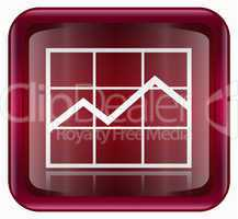 graph icon red
