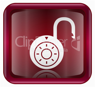 Lock on icon red
