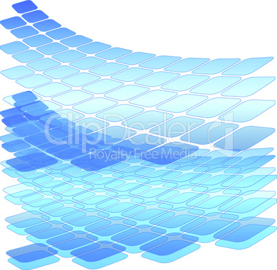 Designvorlage - Design Template - Blau - blue