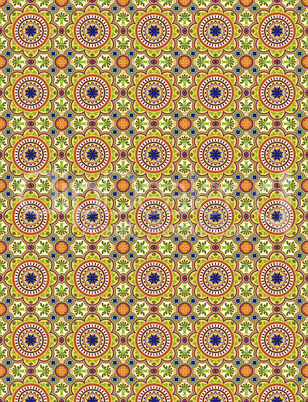 Oriental Style Colorful Seamless Pattern background 001-BGRD.EPS
