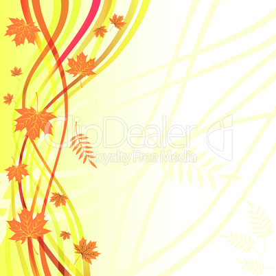Yellow floral background. Autumn vector.