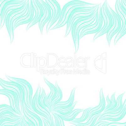Blue abstract floral background.