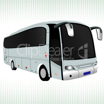 White bus vector.