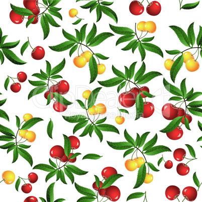 Seamless cherry background.