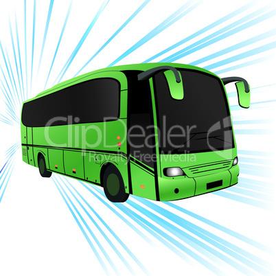 Green bus