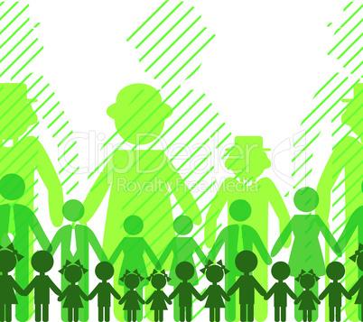 Ecology icon, family background.