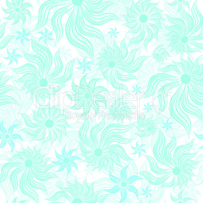 Abstract art blue vector flower seamless background