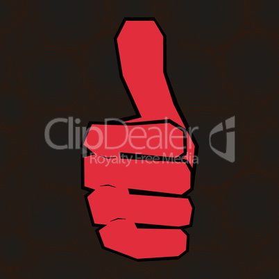 Vector hand with thumb up.