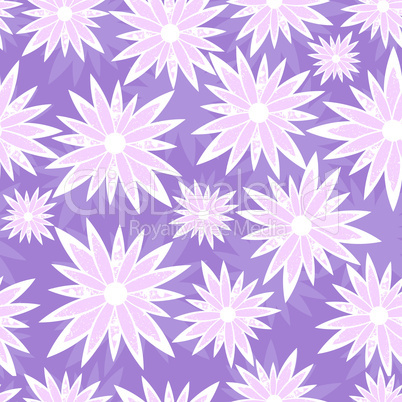 Grunge  vector seamless flower background
