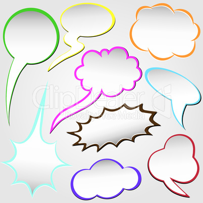 Paper origami speech bubble. Dialog cloud.