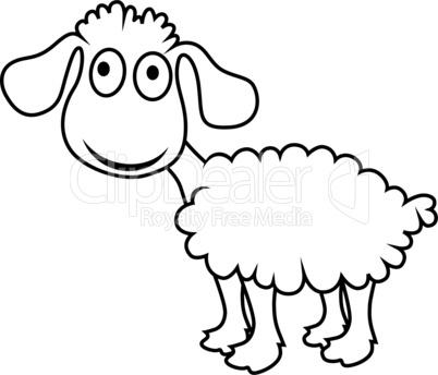 Cartoon sheep, vector lamb.