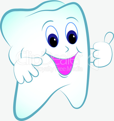 Cartoon tooth