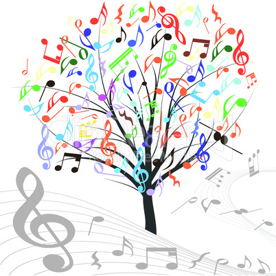 Music tree vector.