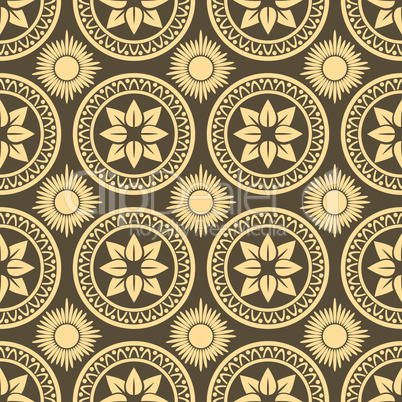 Retro seamless circle background.
