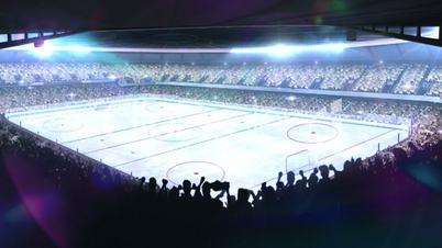 Hockey stadium. Sports event.