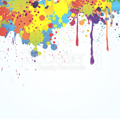 bright ink splashes