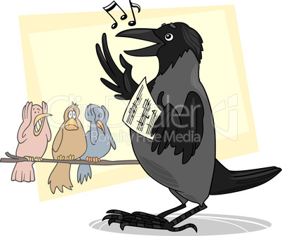 singing crow cartoon