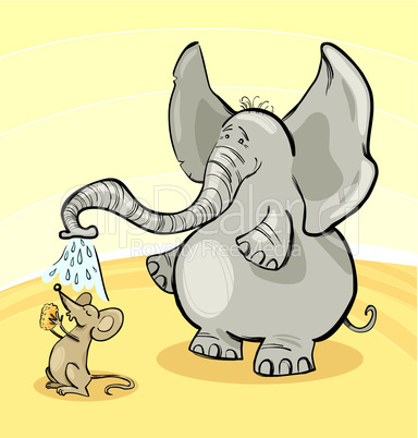 mouse and elephant cartoon